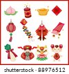 Chinese New Year decorative elements - stock photo