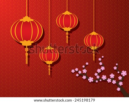 chinese new year graphic and background