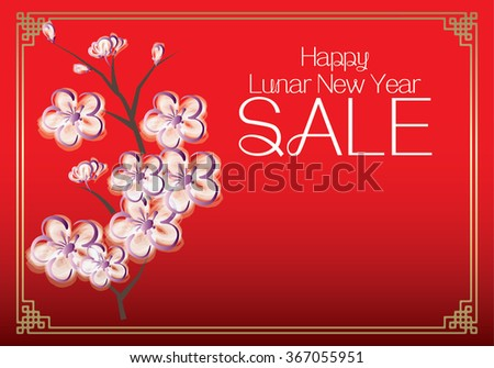 Chinese New Year sale design template