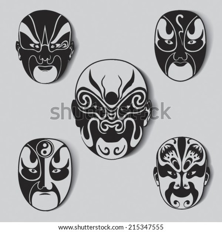china opera mask pictures to pin on pinterest tattooskid. Black Bedroom Furniture Sets. Home Design Ideas