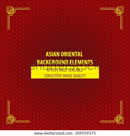 Chinese oriental background design. Asian themes decorative images perfect to use for Chinese new years website design elements, greeting cards, calendar, or books and magazine illustrations - stock vector
