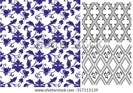 Chinese pattern set. Seamless  vector ornaments in traditional style. National ornamental motives. - stock vector