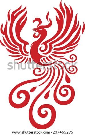 Chinese phoenix, Phoenix - stock vector