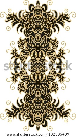 chinese stylized decorative element - stock vector