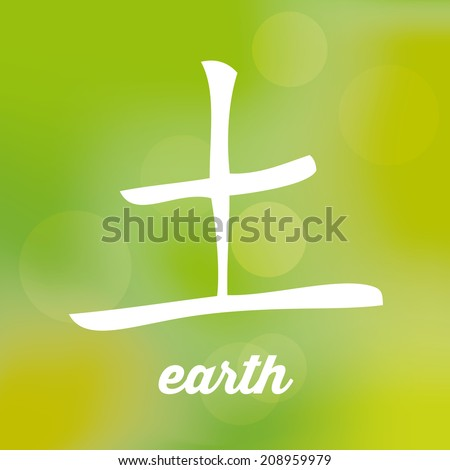 Chinese Signs Five Elements Stock Vector 173243021 Shutterstock