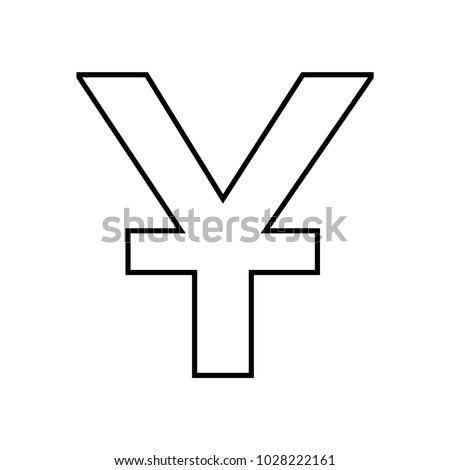 Chinese Yuan Currency Symbol Icon Vector Stock Vector 1028222161