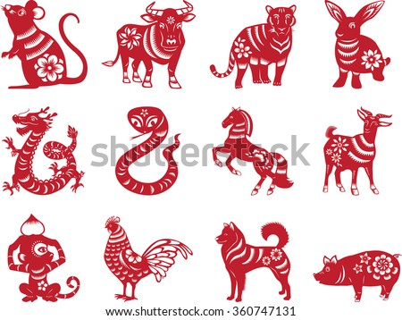 Chinese Zodiac Animals Stock Images, Royalty-Free Images & Vectors ...