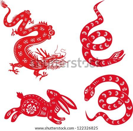 Chinese Zodiac Dragon Drawing Chinese Zodiac Animals Snake