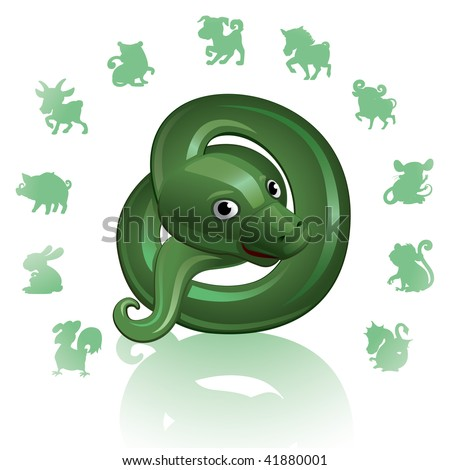 Chinese Zodiac Sign Snake - stock vector