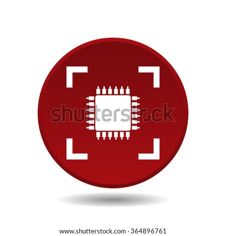Chip icon, vector illustration. Modern design. Flat design style - stock vector