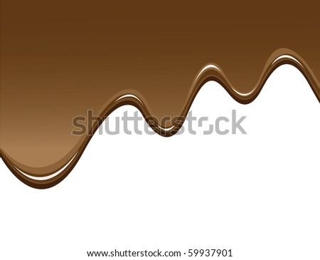 chocolate background to illustrate melted chocolate
