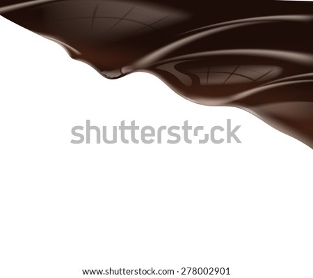 Chocolate background. Vector - stock vector