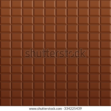 Chocolate background, vector chocolate bar