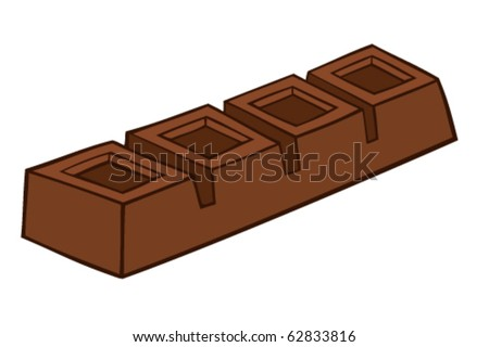 Chocolate bar. - stock vector