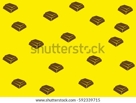 Repeated Pattern Of Chocolate Bars