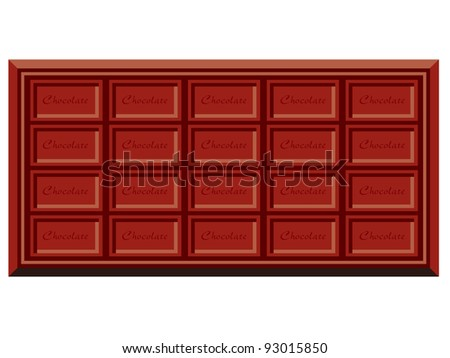 chocolate bars eps vector - stock vector