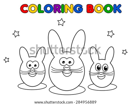 chocolate bunny for coloring
