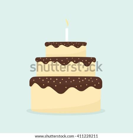chocolate cake - stock vector
