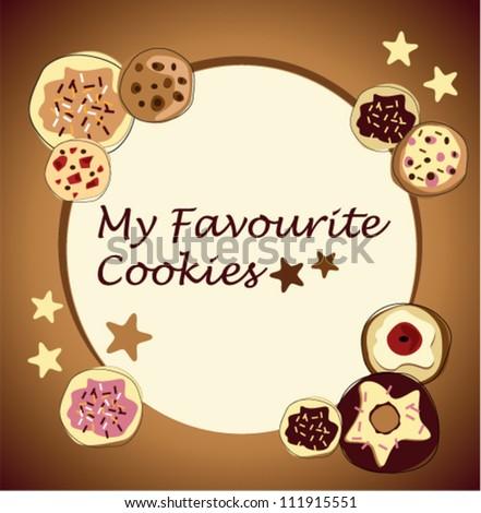 chocolate cookies - stock vector