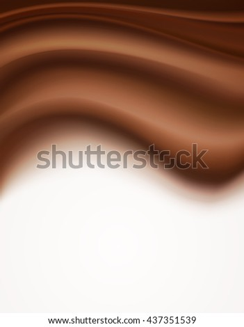 chocolate creamy background. vector illustration
