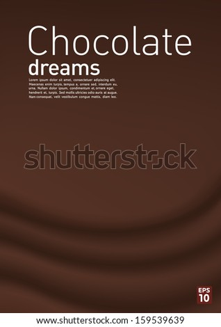 Chocolate dream background, vector - stock vector