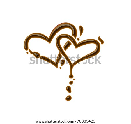 Chocolate heart symbol for valentine design element. - stock vector