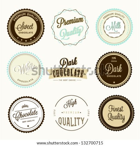 Chocolate labels set