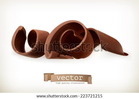 Chocolate shavings, vector illustration - stock vector
