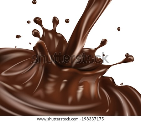 Chocolate splash. Vector eps 10 - stock vector