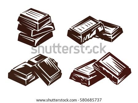 chocolate vector symbol vector illustration on stock photo photo rh shutterstock com chocolate victoria sponge cake easy chocolate vector