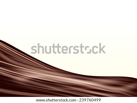 Chocolate wave background. Vector eps 10