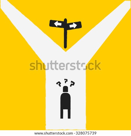 choice, business concept - stock vector