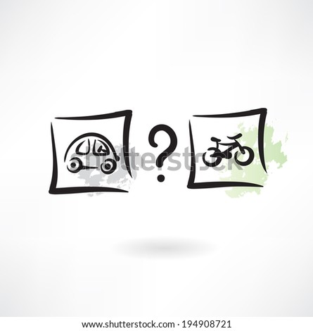 choice of transport icon - stock vector