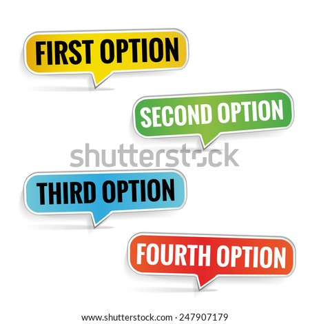 Choice options vector background