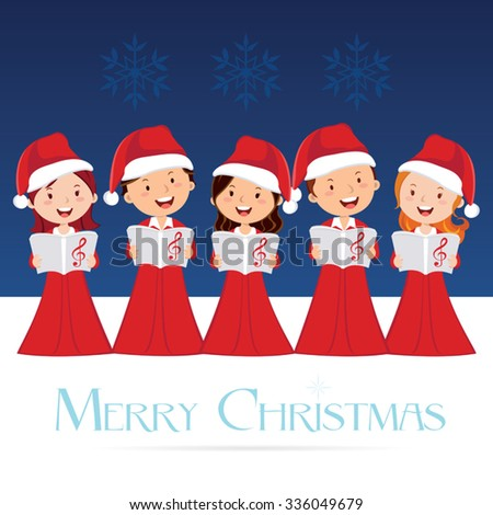 Choir. Christmas Concert. Christmas Carols. - stock vector