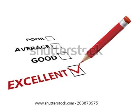 Choose excellent - stock vector