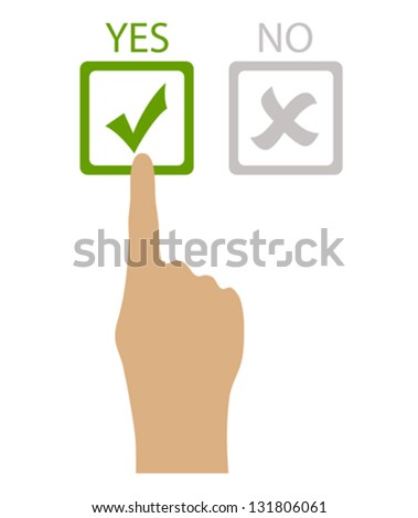Choose yes vector illustration - stock vector