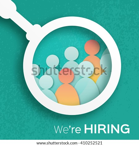 Choosing the talented person for hiring. HR job seeking concepts. The choice of the best suited employee - stock vector