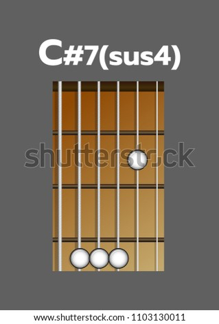 Chord Diagram Tab Tabulation Finger Chart Stock Vector 1103130011 ...