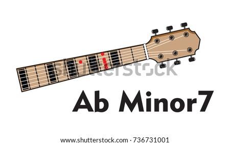 Chord Diagram Tab Tabulation Finger Chart Stock Vector 736731001 ...