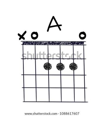 Chord Diagram Tab Tabulation Finger Chart Stock Vector 1088617607 ...