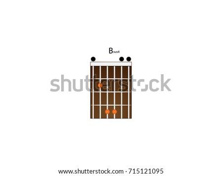 Chord Guitar Amaj7 Stock Vector 714124855 Shutterstock