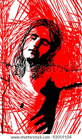 christ - stock vector