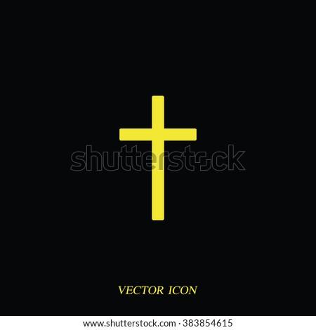 Christian cross. - stock vector