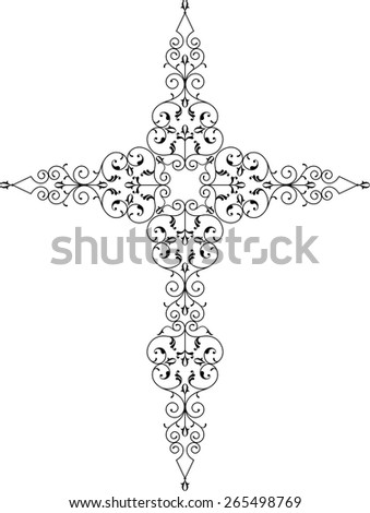 Christian Cross Design Vector Art - stock vector