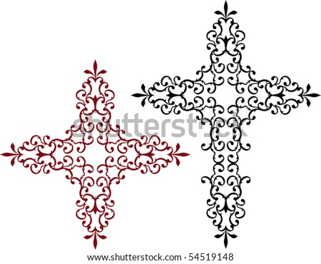 Christian Crosses - stock vector