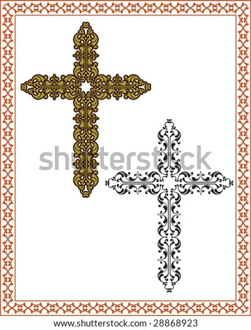 Christian Crosses, Frame, Border