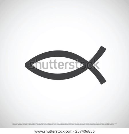 Christian fish icon design - stock vector
