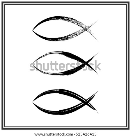 Fish symbol stock images royalty free images vectors for Christian fish meaning