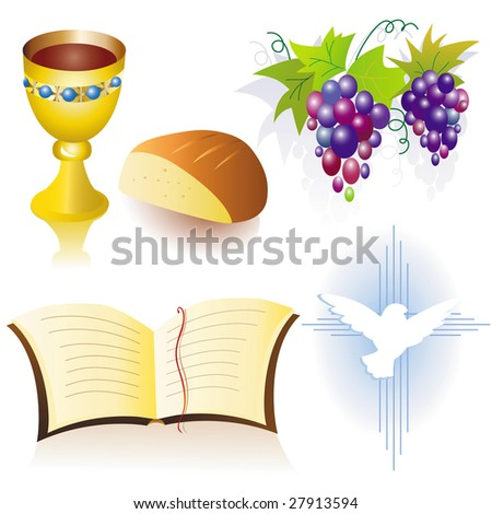Christian icons - stock vector